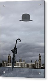 Rainy Day In London  Acrylic Print by Angel Jesus De la Fuente