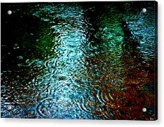 Rainy Day River Solitude Acrylic Print by Bruce Carpenter