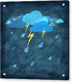 Rainy Day With Storm And Thunder Acrylic Print