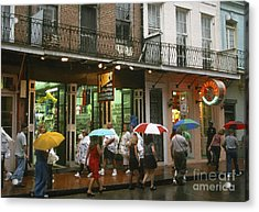 Rainy Evening On Bourbon Street  Acrylic Print by Thomas R Fletcher