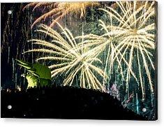 Rainy Fireworks Acrylic Print by Yoshiki Nakamura