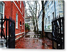 Rainy Philadelphia Alley Acrylic Print by Bill Cannon