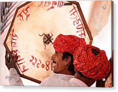Rajasthani Drummers Acrylic Print by Mostafa Moftah