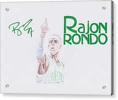 Rajon Rondo Acrylic Print by Toni Jaso