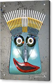 Acrylic Print featuring the photograph Rake Man by Bill Thomson