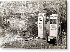 Ranch Gas Pumps Acrylic Print by Lenore Senior and Dawn Senior-Trask