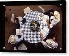 Ranchers At The Round Table Acrylic Print