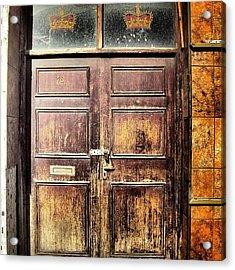 Random Door In Liverpool Streets Acrylic Print