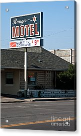 Ranger Motel Acrylic Print by Lawrence Burry
