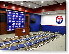 Rangers Press Room Acrylic Print by Ricky Barnard