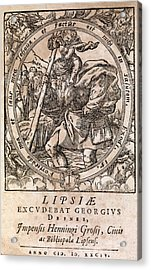 Rantzau's Astrology Book, 1584 Edition Acrylic Print by Middle Temple Library