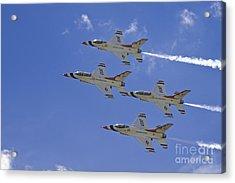 Rare Usaf Thunderbirds Diamond Pass Acrylic Print by Tim Mulina