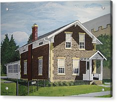 Acrylic Print featuring the painting Rasey House by Norm Starks