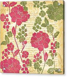 Raspberry Sorbet Floral 1 Acrylic Print by Debbie DeWitt