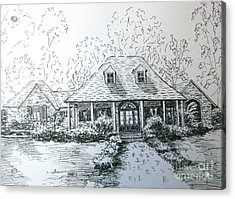 Acrylic Print featuring the drawing Rathe's Home by Gretchen Allen