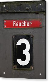 Raucher Acrylic Print by Falko Follert