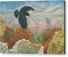Raven Over The South Rim  Acrylic Print by Marcia  Perry