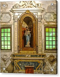 Ravenna Italy - Sant Apollinare Nuovo - Madonna And Child Acrylic Print by Gregory Dyer