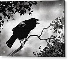 Raven's Song Acrylic Print by Robert Foster