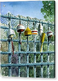 Ray's Fence Acrylic Print by Paul Gardner