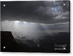 Rays In The Canyon Acrylic Print