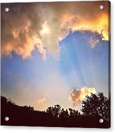 Rays Of Light Like Wings Of Angels Acrylic Print