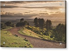 Rays Of Sunlight Over Clent Countryside Acrylic Print by Verity E. Milligan