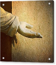 Reach Out Touch Faith #hand #faith Acrylic Print