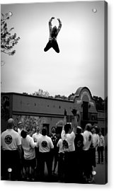 Reaching For The Sky In Black And White Acrylic Print by Tam Graff