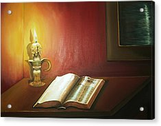 Reading By Candlelight Acrylic Print