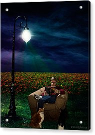 Reading Light Acrylic Print by Michael Taggart