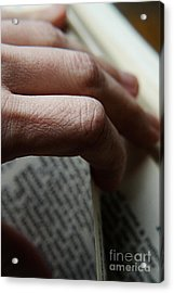 Reading The Bible Acrylic Print by HD Connelly