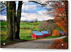Reading Vermont - Jenne Road Acrylic Print by Thomas Schoeller