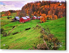 Reading Vermont Scenic Acrylic Print by Thomas Schoeller
