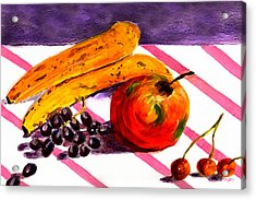 Acrylic Print featuring the painting Ready-to-eat by Paula Ayers