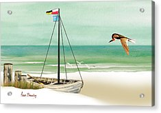 Acrylic Print featuring the painting Ready To Go by Anne Beverley-Stamps