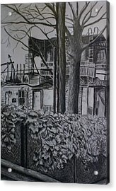 Rear View At Greene Ave. Brooklyn Acrylic Print by Victor SOTO