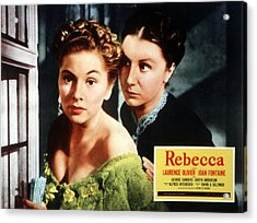 Rebecca, From Left Joan Fontaine Acrylic Print by Everett