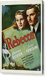 Rebecca, Joan Fontaine, Laurence Acrylic Print by Everett