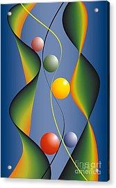 Acrylic Print featuring the digital art Rebus by Leo Symon