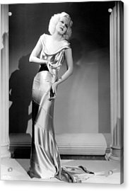 Reckless, Jean Harlow, In A  Dress Acrylic Print by Everett