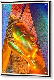 Reclining Buddha Acrylic Print by Satya Winkelman