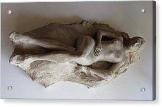 Reclining Nude Acrylic Print by Herschel Pollard
