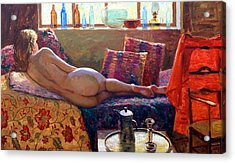 Reclining Nude Acrylic Print