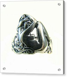 Reclining #nude #sterling #ring - Part Acrylic Print