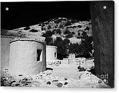 reconstruction of Choirokoitia ancient neolithic village settlement republic of cyprus Acrylic Print by Joe Fox