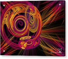 Record Time Machine Acrylic Print by Andee Design