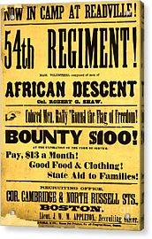 Recruiting Poster, 1863 Acrylic Print