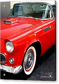 Red 1955 Ford Thunderbird Acrylic Print by Wingsdomain Art and Photography