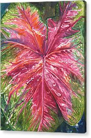 Acrylic Print featuring the painting Red And Wet by AnnaJo Vahle